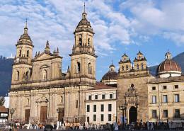 Bolivar square in Bogota Colombia